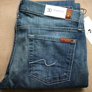7 of All Mankind Straight Leg Jeans